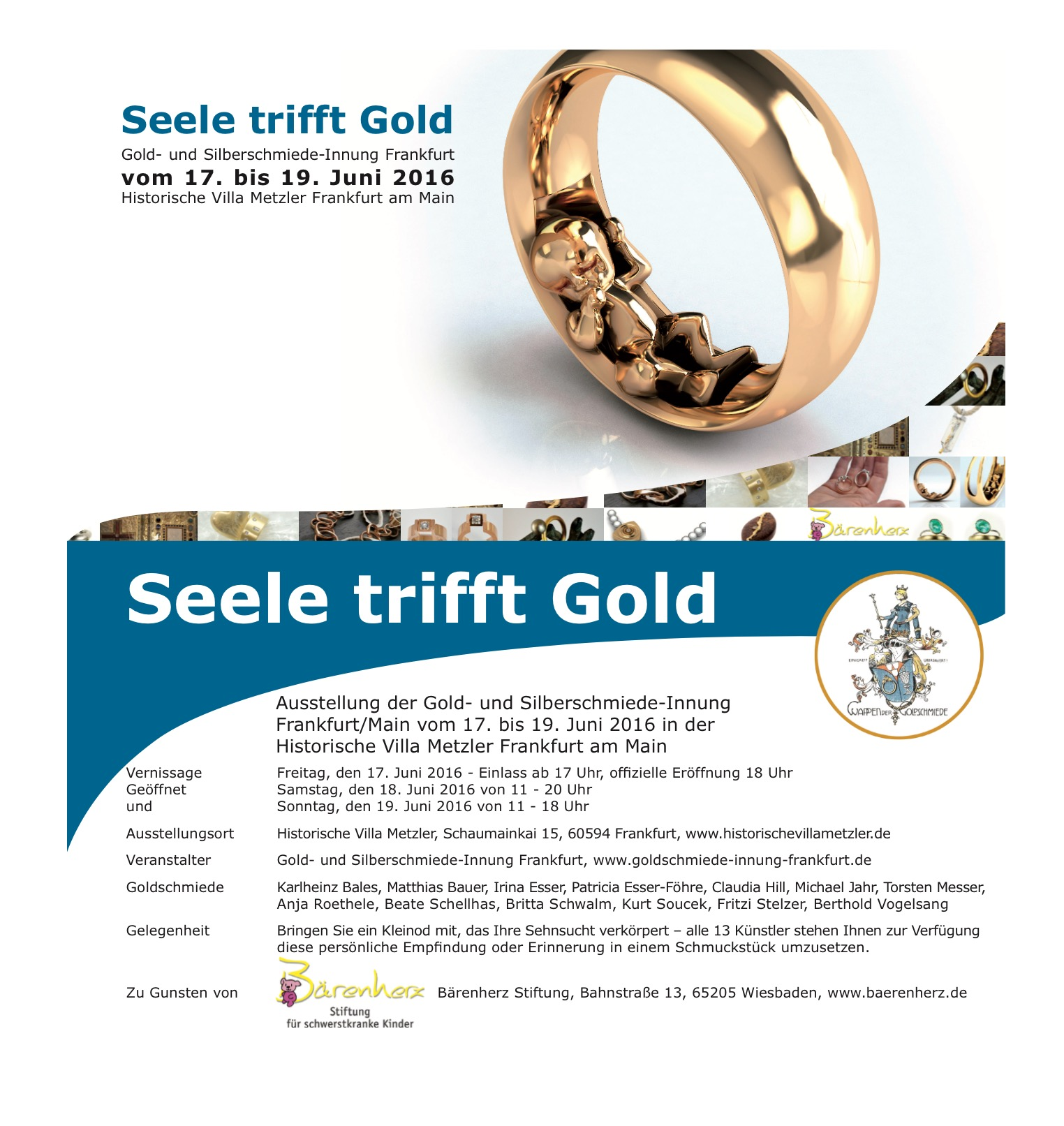 Seele trifft Gold Einladung